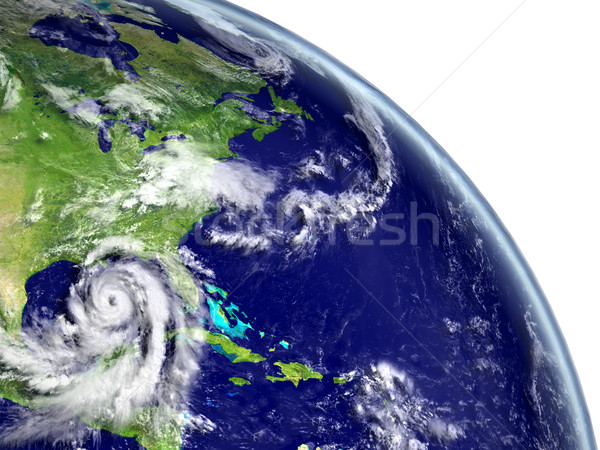 Hurricane Matthew near coastline Stock photo © Harlekino