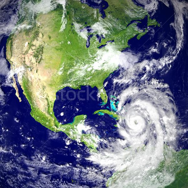Ouragan énorme Floride Amérique 3d illustration Photo stock © Harlekino