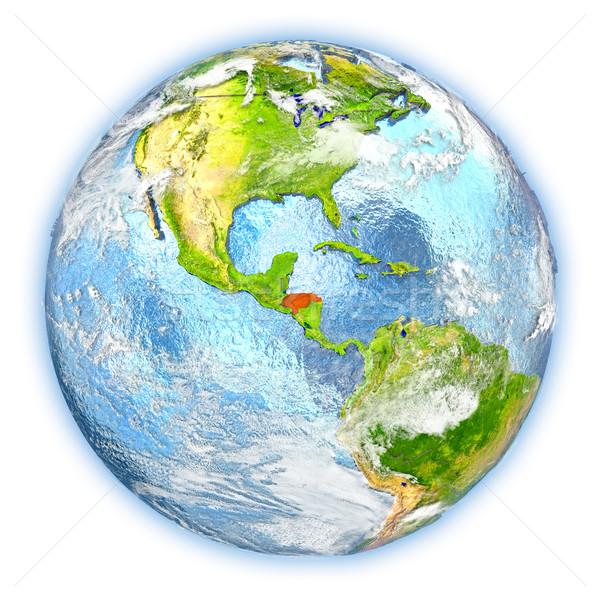 Honduras terra isolato rosso pianeta terra illustrazione 3d Foto d'archivio © Harlekino