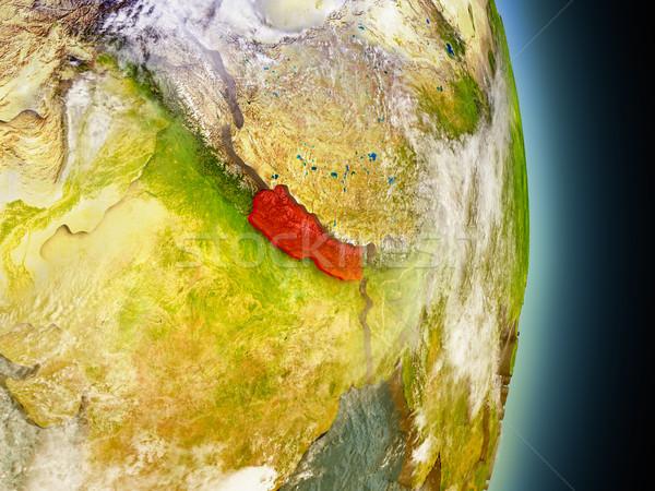 ネパール 赤 スペース モデル 軌道 3次元の図 ストックフォト © Harlekino