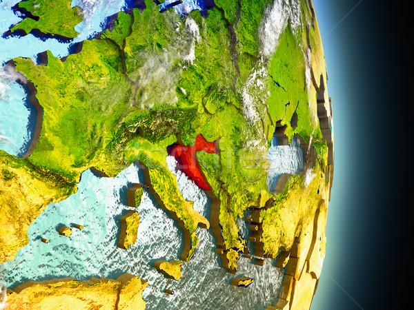 Foto d'archivio: Croazia · rosso · spazio · modello · illustrazione · 3d