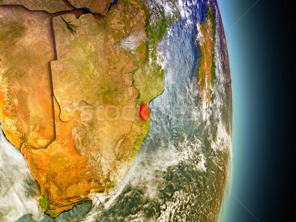 красный пространстве модель орбита 3d иллюстрации Сток-фото © Harlekino