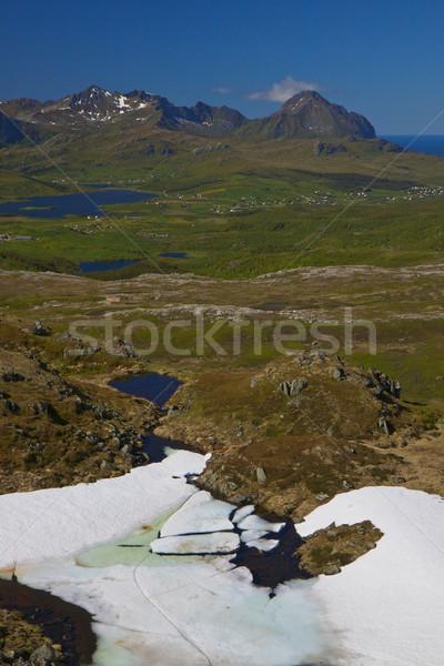 Mountains on Lofoten islands Stock photo © Harlekino
