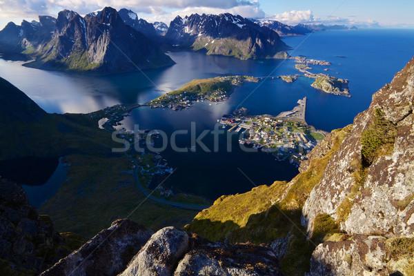 Cênico ver topo montanha pitoresco Foto stock © Harlekino