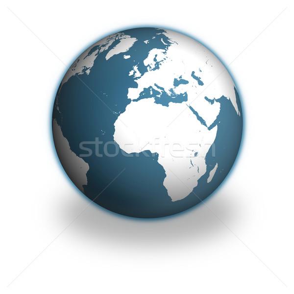 Dünya gezegeni model toprak yalıtılmış beyaz elemanları Stok fotoğraf © Harlekino