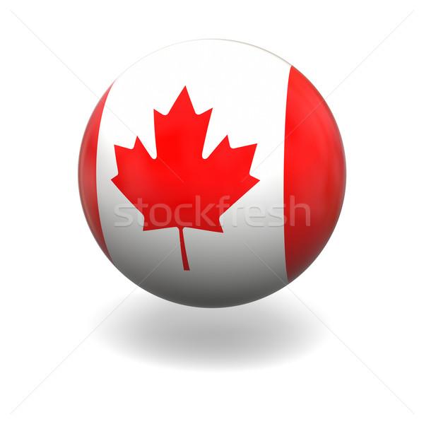 Drapeau canadien pavillon Canada sphère isolé blanche Photo stock © Harlekino