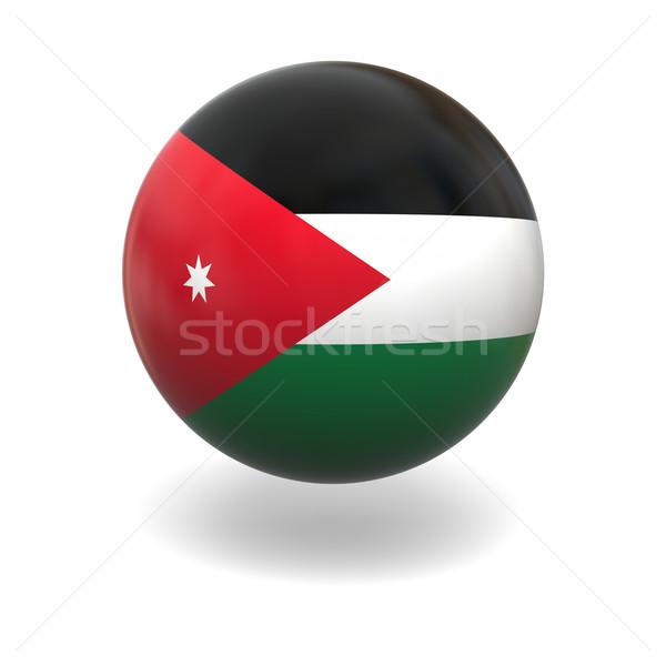 Bayrak Ürdün küre yalıtılmış beyaz grafik Stok fotoğraf © Harlekino