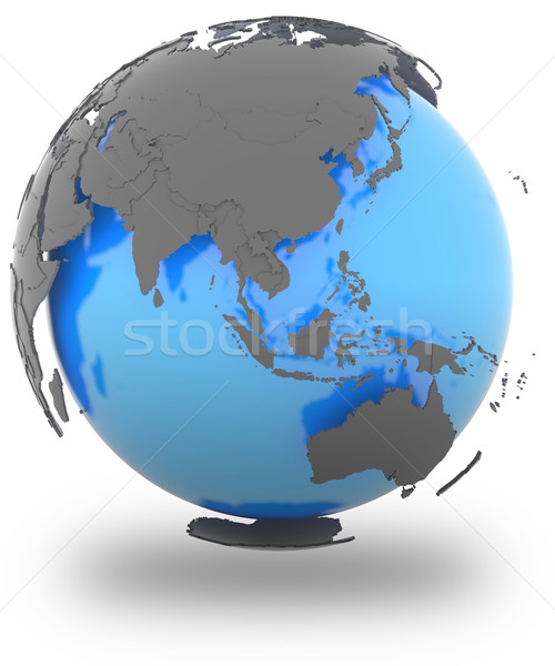 Eastern Hemisphere on Earth Stock photo © Harlekino