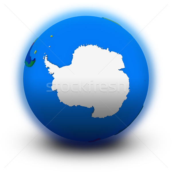 Antarctica on political globe Stock photo © Harlekino