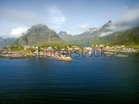 Scenico panorama Norvegia panorama Foto d'archivio © Harlekino