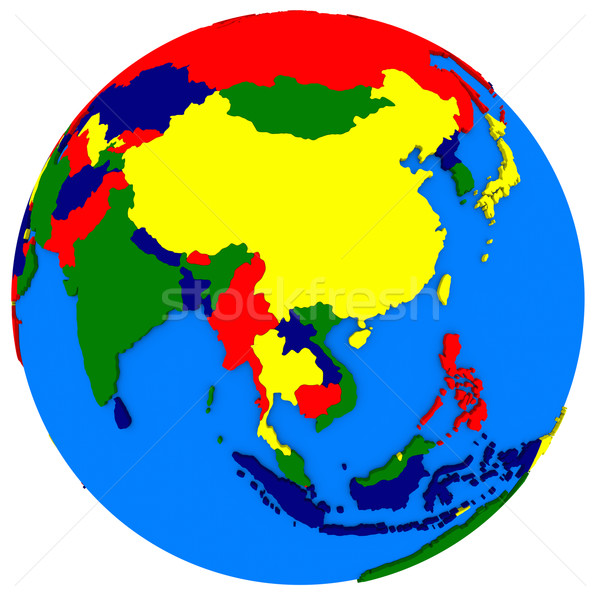 southeast Asia on political map Stock photo © Harlekino
