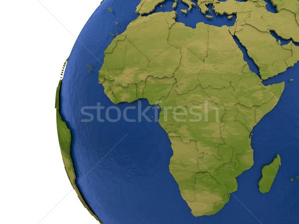 Africaine continent terre Afrique détaillée modèle Photo stock © Harlekino