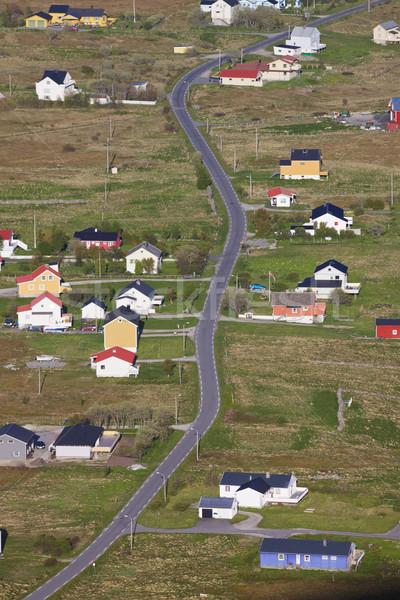 風光明媚な 町 島 島々 ノルウェー ストックフォト © Harlekino