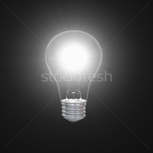Lâmpada escuro brilhante ilustração isolado preto Foto stock © Harlekino