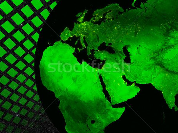 Região tecnologia europa oriente médio África elementos Foto stock © Harlekino