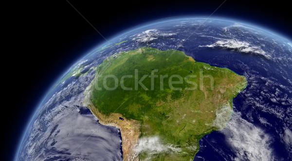 América del sur espacio ambiente nubes elementos imagen Foto stock © Harlekino