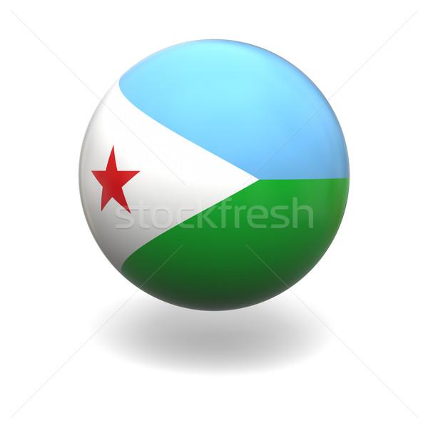 Dżibuti banderą sferze odizolowany biały Zdjęcia stock © Harlekino