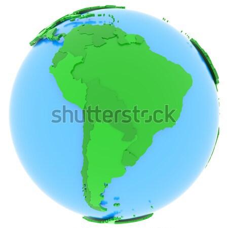 América del sur tierra político mapa países diferente Foto stock © Harlekino