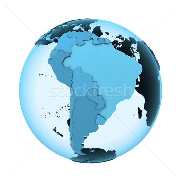 South America on translucent Earth Stock photo © Harlekino