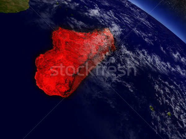 Madagaszkár űr piros pálya 3d illusztráció rendkívül Stock fotó © Harlekino