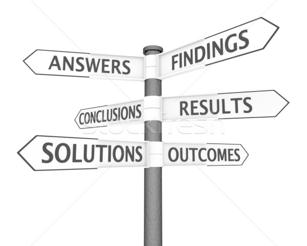 Solutions Signpost Stock photo © Harlekino