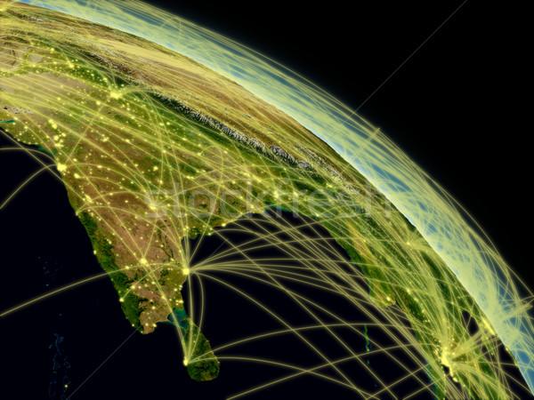 Inde réseau sous-continent indien espace détaillée Photo stock © Harlekino