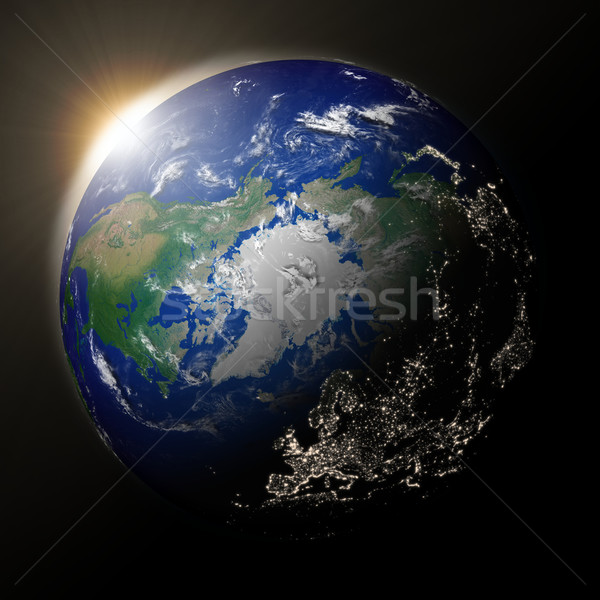 Stock photo: Sun over northern hemisphere