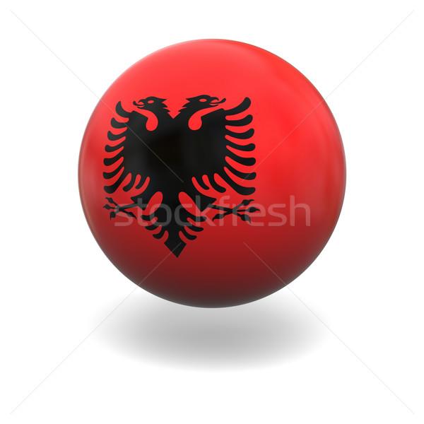 Albanian flag Stock photo © Harlekino