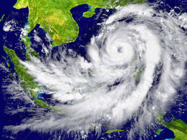 Hurricane near Southeast Asia Stock photo © Harlekino