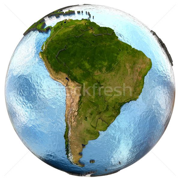 América del sur tierra detallado planeta tierra continentes Foto stock © Harlekino
