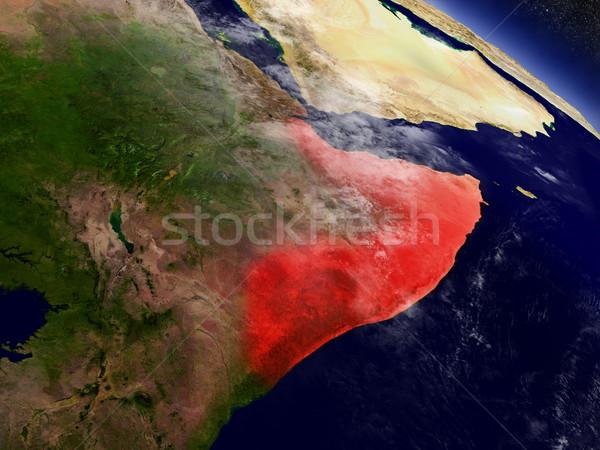 Somali przestrzeni czerwony orbita 3d ilustracji wysoko Zdjęcia stock © Harlekino