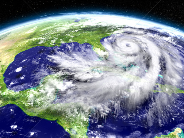 Hurricane Matthew approaching Florida Stock photo © Harlekino