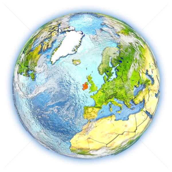 Ирландия земле изолированный красный планете Земля 3d иллюстрации Сток-фото © Harlekino