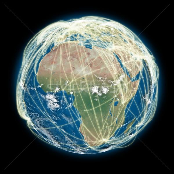 Mondo africa view pianeta terra città Foto d'archivio © Harlekino