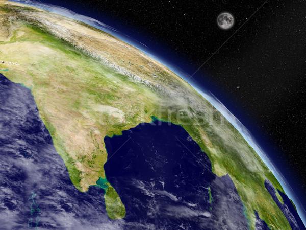 Subcontinente indiano espaço planeta terra detalhado planeta Foto stock © Harlekino