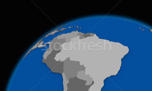 south America on planet Earth political map Stock photo © Harlekino