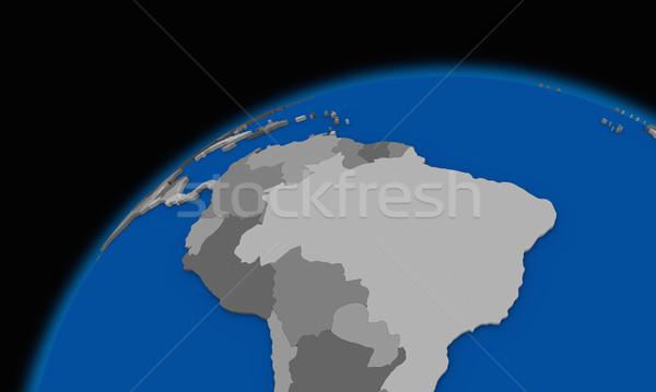 América del sur planeta tierra político mapa mundo viaje Foto stock © Harlekino