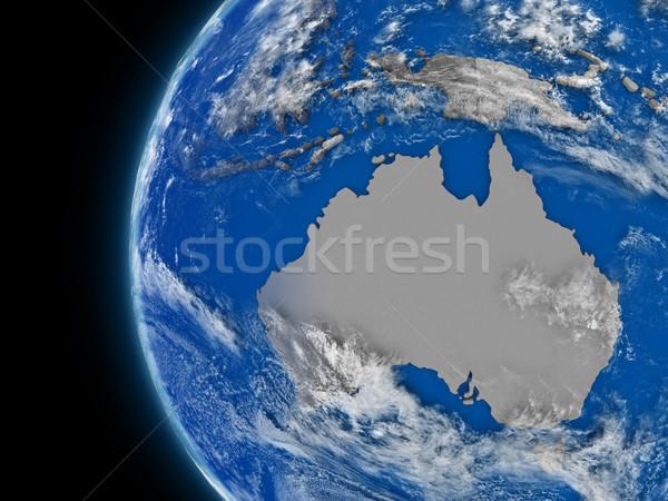 Continent politique monde illustration atmosphérique Photo stock © Harlekino