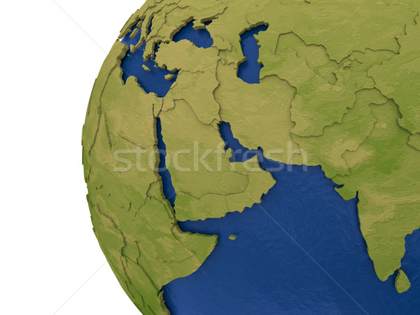 Stock photo: Middle East region on Earth