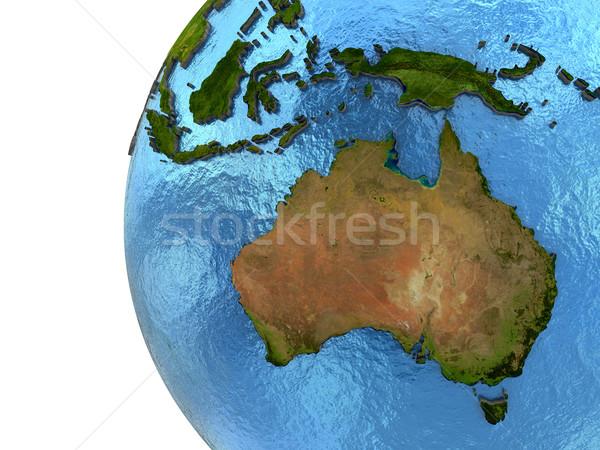 Avustralya kıta toprak Avustralya ayrıntılı model Stok fotoğraf © Harlekino