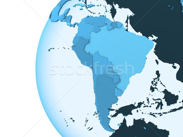 América del sur tierra modelo planeta tierra visible Foto stock © Harlekino