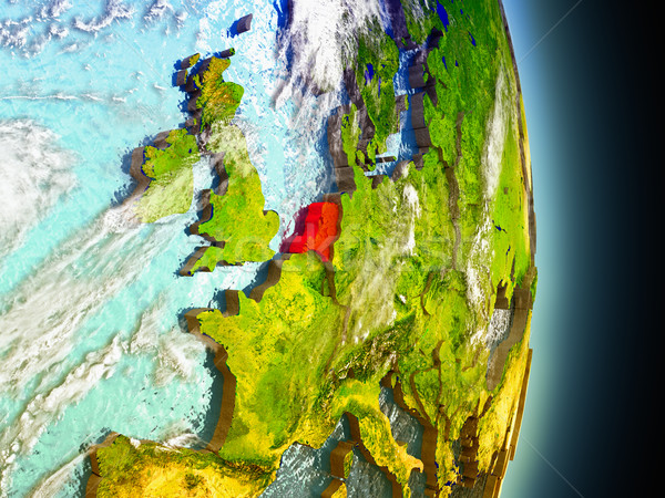 Netherlands in red from space Stock photo © Harlekino