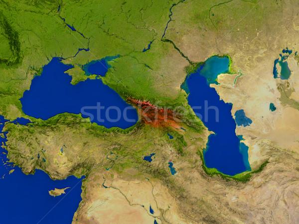 űr piros kilátás pálya 3d illusztráció rendkívül Stock fotó © Harlekino