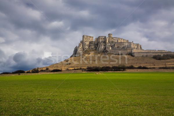 замок Словакия руин средневековых центральный Сток-фото © Harlekino