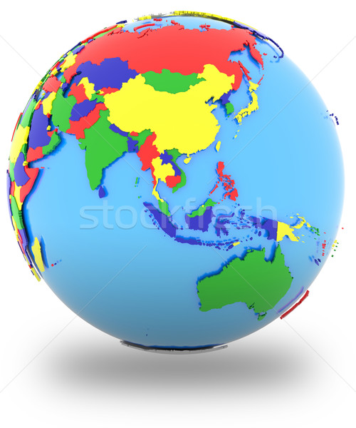 Southeast Asia on the globe Stock photo © Harlekino