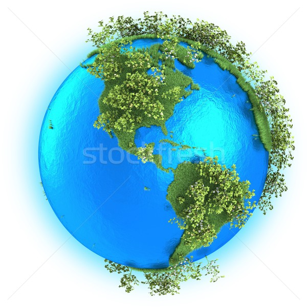 North and South America on planet Earth  Stock photo © Harlekino
