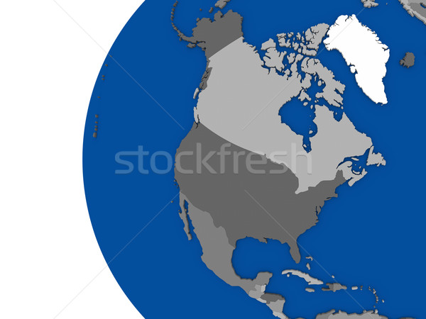 észak amerikai földrész politikai földgömb illusztráció Stock fotó © Harlekino