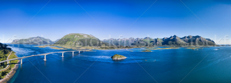 Bridge on Lofoten Stock photo © Harlekino