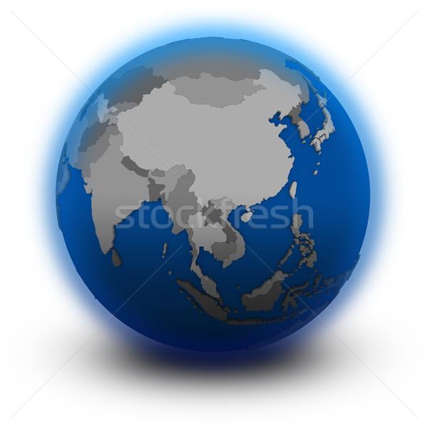 Sud-est asiatico politico mondo illustrazione isolato bianco Foto d'archivio © Harlekino