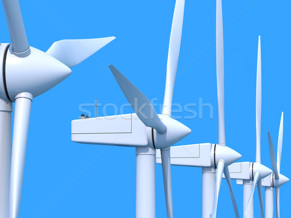 Wind farm generators Stock photo © Harlekino